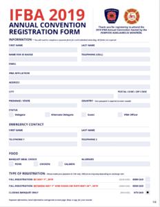 Thumbnail image of the 2019 Montréal Convention Registration Form