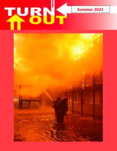 Magazine cover showing an apartment building fire in New Orleans